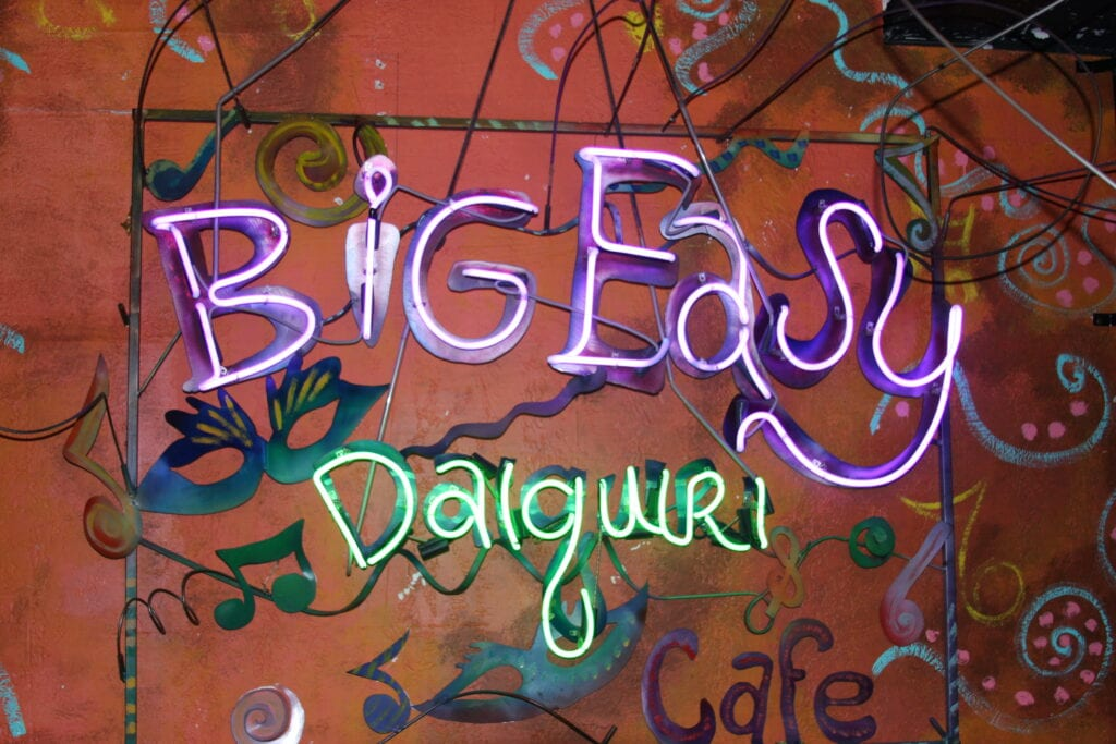 Big Easy NEON ON 428 Canal St